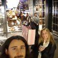 Lara Fabian et son mari Gabriel à Londres. Facebook mars 2017