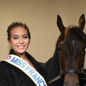 Vaimalama Chaves (Miss France 2019) souriante et acclamée à Vincennes