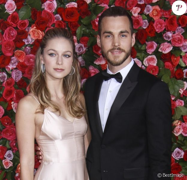 Melissa Benoist et son compagnon Chris Wood - 72ème cérémonie annuelle des Tony Awards au Radio City Music Hall à New York, le 10 juin 2018.