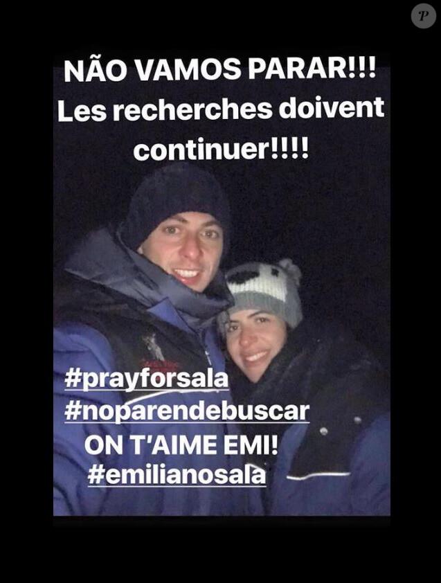 L'appel de Luiza Ungerer pour retrouver le corps d'Emiliano Sala. Facebook, le 25 janvier 2019.