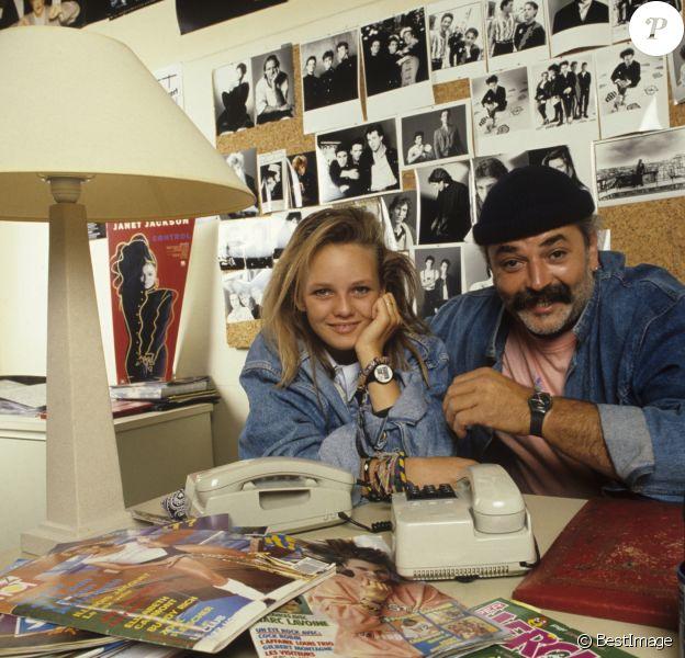 Archives - En France, à Paris, rendez-vous avec Vanessa Paradis et son oncle Didier Pain. Juillet 1987 © Alain Canu via Bestimage