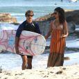 Matthew McConaughey et sa compagne Camilla Alves sur une plage de Malibu (23 mai)