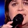 """Virginie (Lisa Angell) dans """"The Voice 8"""" sur TF1, le 16 février 2019."""
