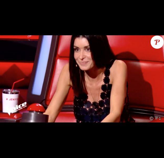 """Jenifer séduite dans """"The Voice 8"""" sur TF1, le 16 février 2019."""