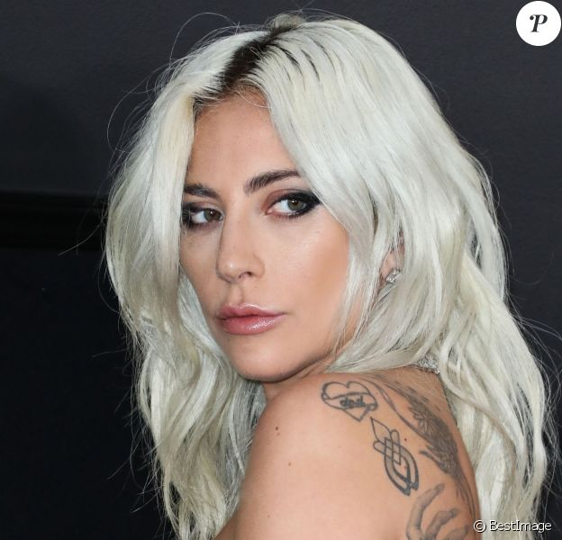 Lady Gaga - Les célébrités posent lors du photocall de la soirée des GRAMMY Awards au Staples Center de Los Angeles le 10 février, 2019