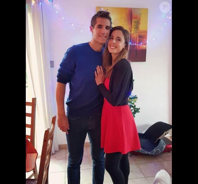 Alizé Cornet avec son petit-ami, et coach, Michael Kuzaj sur Instagram le 15 décembre 2018.