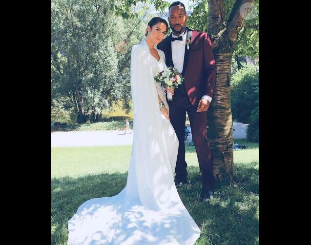 Charlotte Namura mariée à Jean Luc Guizonne (Star Ac') -Instagram, juillet 2018