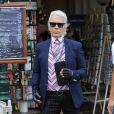 Karl Lagerfeld à Saint-Tropez le 25 juillet 2014.