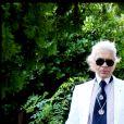 Karl Lagerfeld à Saint-Tropez. Août 2010.