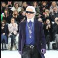 Karl Lagerfeld à Paris. Mars 2012.