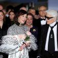 La princesse Caroline de Hanovre et Karl Lagerfeld au 63e Bal de la Rose à Monaco le 18 mars 2017. © Dominique Jacovides/Bestimage