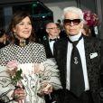 La princesse Caroline de Hanovre et Karl Lagerfeld au 63e Bal de la Rose à Monaco le 18 mars 2017. © Gaetan Luci / Palais Princier / SBM via Bestimage