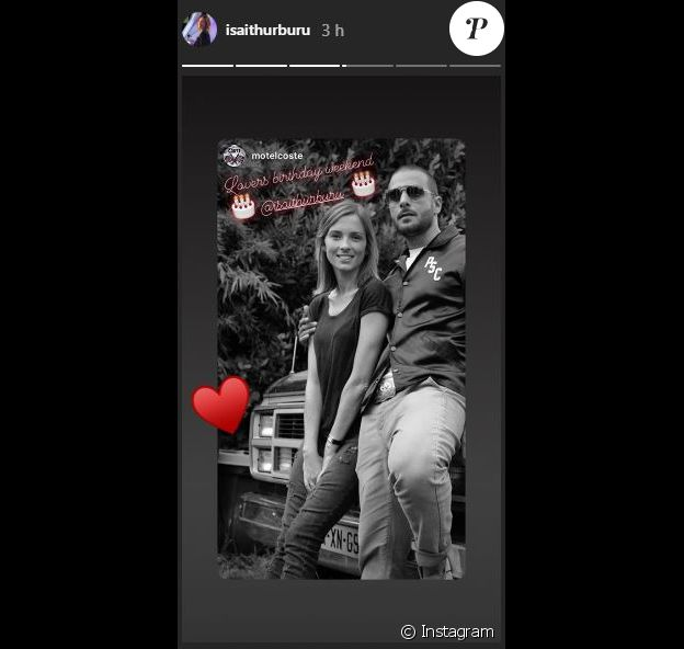 Dimitri Coste a envoyé cette story Instagram à Maxim Nucci (Yodelice) et Isabelle Ithurburu pour leurs anniversaires respectifs, les 23 et 24 février 2019.