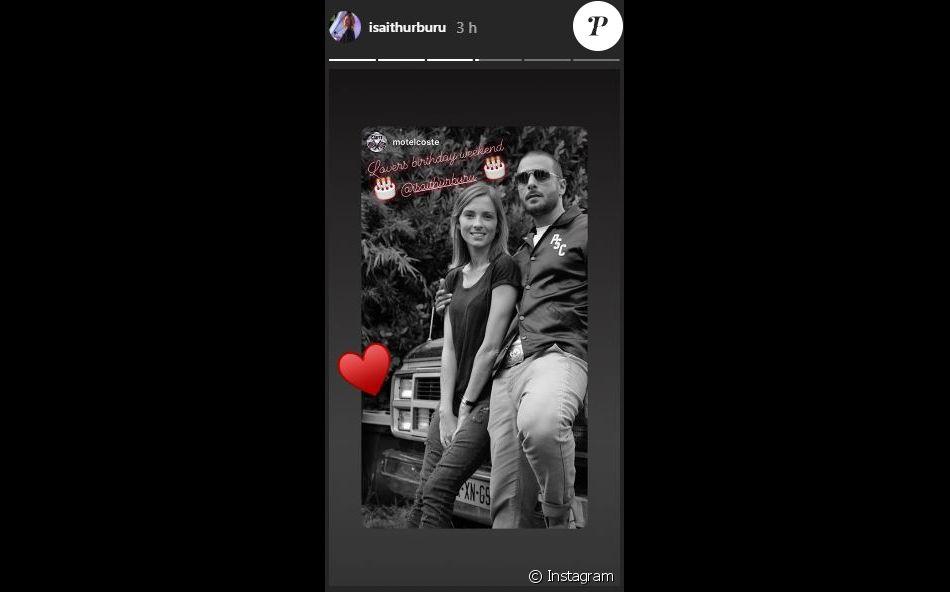 Maxim Nucci (Yodelice) et Isabelle Ithurburu ont fêté respectivement leurs 40 ans et 36 ans les 23 et 24 février 2019, ce que leur ami Dimitri Coste n'a pas manqué de célébrer via une story Instagram.