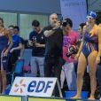 Estelle Denis lors du Challenge Swimming Heroes pour l'UNICEF lors du meeting Olympique à la piscine de Courbevoie, France, le 24 février 2019. © Pierre Perusseau/Bestimage