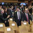 Ines Arrimadas, Miquel Iceta et Manuel Valls lors de la soirée des Prix du Royaume d'Espagne pour les entreprises (Premio Reino de España a la Trayectoria Empresarial) à l'école de commerce Institut d'études supérieures de commerce (IESE) de Barcelone, Espagne, le 25 février 2019.