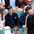 Jean-Baptiste Maunier et Ophélie Meunier - People dans les tribunes lors des Internationaux de France de Tennis de Roland-Garros à Paris le 1er juin 2018. © Dominique Jacovides-Cyril Moreau / Bestimage