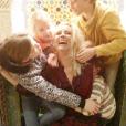 Elodie Gossuin et ses deux paires de jumeaux complices, le 27 février 2019.