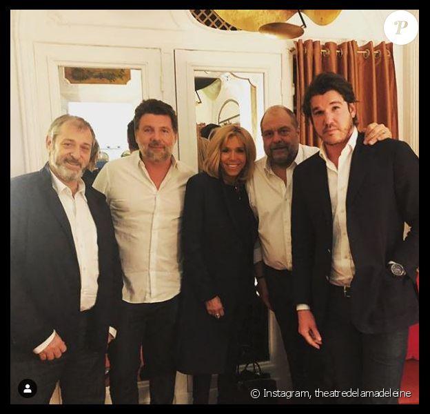 """Brigitte Macron a assisté à une représentation de la pièce """"Eric Dupond-Moretti à la barre """" au théâtre de la Madeleine. Instagram, février 2019."""