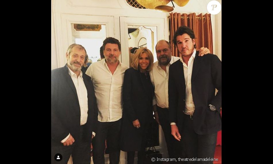 """Brigitte Macron a assisté à une représentation de la pièce """" Eric Dupond-Moretti à la barre  """" au théâtre de la Madeleine. Instagram, février 2019."""