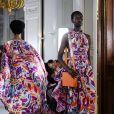 """Défilé de mode Prêt-à-Porter automne-hiver 2019/2020 """"Léonard Paris"""" à Paris. Le 1er mars 2019."""