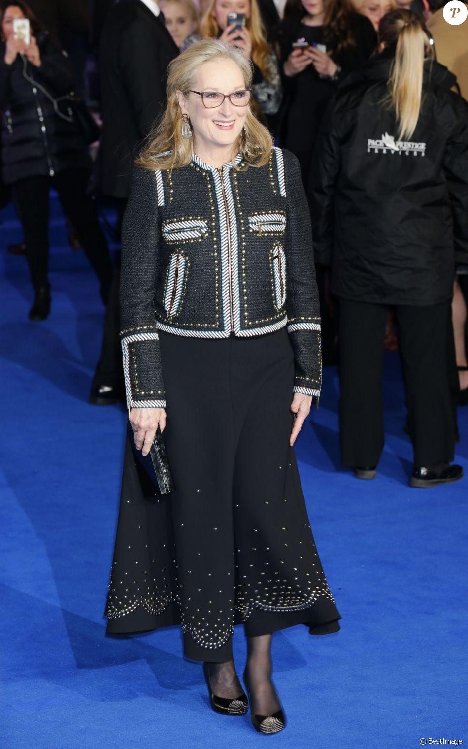 """Meryl Streep - Avant-première du film """"Le Retour de Mary Poppins"""" au Royal Albert Hall à Londres, Royaume Uni, le 12 décembre 2018."""