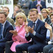 Emmanuel Macron décore le jeune Marin, héros miraculé, devant Brigitte
