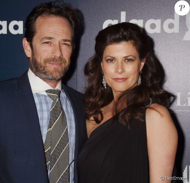 Luke Perry et Wendy Madison Bauer à la 28ème soirée annuelle GLAAD Media Awards à Los Angeles, le 2 avril 2017 © CPA/Bestimage