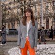 Caroline de Maigret - Défilé Miu Miu, collection prêt-à-porter automne-hiver 2019-2020 au Palais d'Iéna. Paris, le 5 mars 2019.