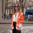 Olivia Palermo - Défilé Miu Miu, collection prêt-à-porter automne-hiver 2019-2020 au Palais d'Iéna. Paris, le 5 mars 2019.
