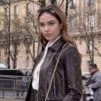 Hana Cross, la petite amie de Brooklyn Beckham - Défilé Miu Miu, collection prêt-à-porter automne-hiver 2019-2020 au Palais d'Iéna. Paris, le 5 mars 2019.
