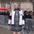 Gwendolyne Christie - Défilé Miu Miu, collection prêt-à-porter automne-hiver 2019-2020 au Palais d'Iéna. Paris, le 5 mars 2019.