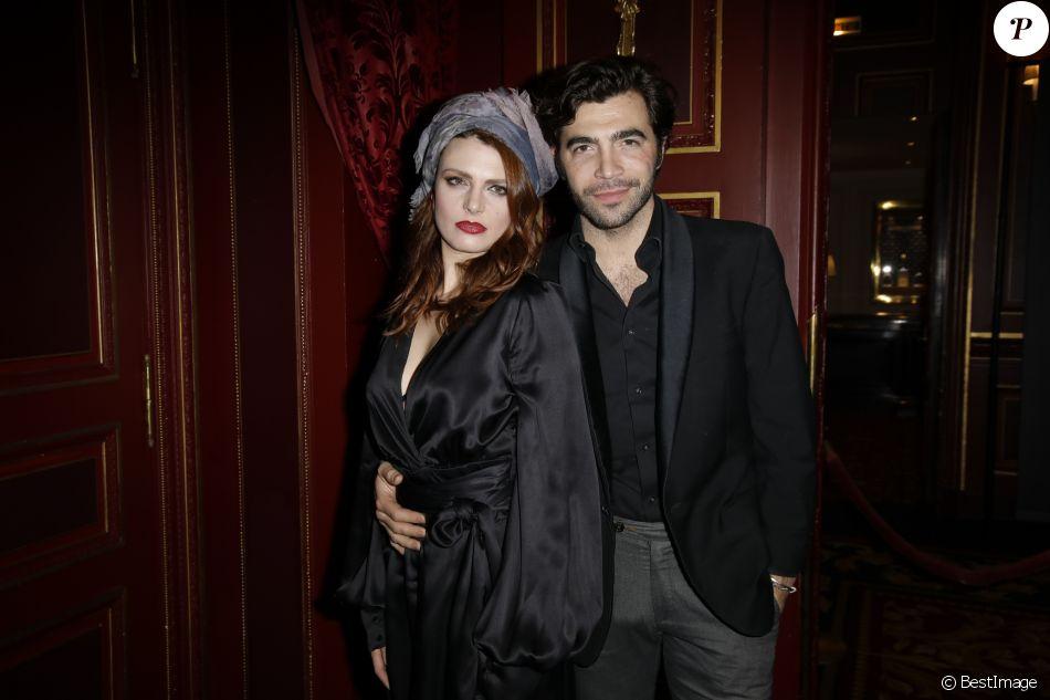 Elodie Frégé et son compagnon Gian Marco Tavani - Lancement du magazine 7000 Art Company à l'hôtel intercontinental à Paris le 7 mars 2019. © Marc Ausset-Lacroix/Bestimage