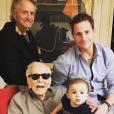 Kirk, Michael, Cameron et Lua Izzy Douglas : 4 générations d'une même famille réunie - 2 mars 2019