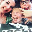 La princesse Tessy de Luxembourg (Tessy Antony) avec ses enfants Noah et Gabriel, photo Instagram le 18 juin 2018.