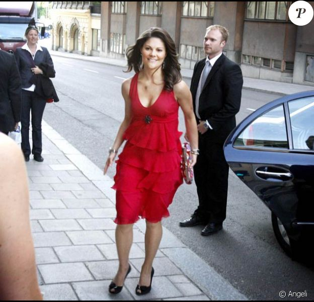 Victoria de Suède au gala des Globe Awards 2009