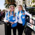 Exclusif - Sophie Tapie et Kiera Chaplin (Gazelle 216) - Départ officiel de la 29ème édition du Rallye Aïcha des Gazelles sur la Promenade des Anglais à Nice, le 16 mars 2019. Le Rallye Aïcha des Gazelles du Maroc est le seul Rallye-Raid hors-piste 100% féminin au monde. © Bruno Bebert / Bestimage