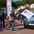 Le prince Albert II de Monaco a donné le départ de la 29ème édition du Rallye Aïcha des Gazelles catégorie E-Gazelle VINCI Immobilier sur la Place du Palais de Monaco le 16 mars 2019, quelques heures avant le départ officiel depuis la Promenade des Anglais à Nice. Le Rallye Aïcha des Gazelles du Maroc est le seul Rallye-Raid hors-piste 100% féminin au monde. © Bruno Bebert / Bestimage