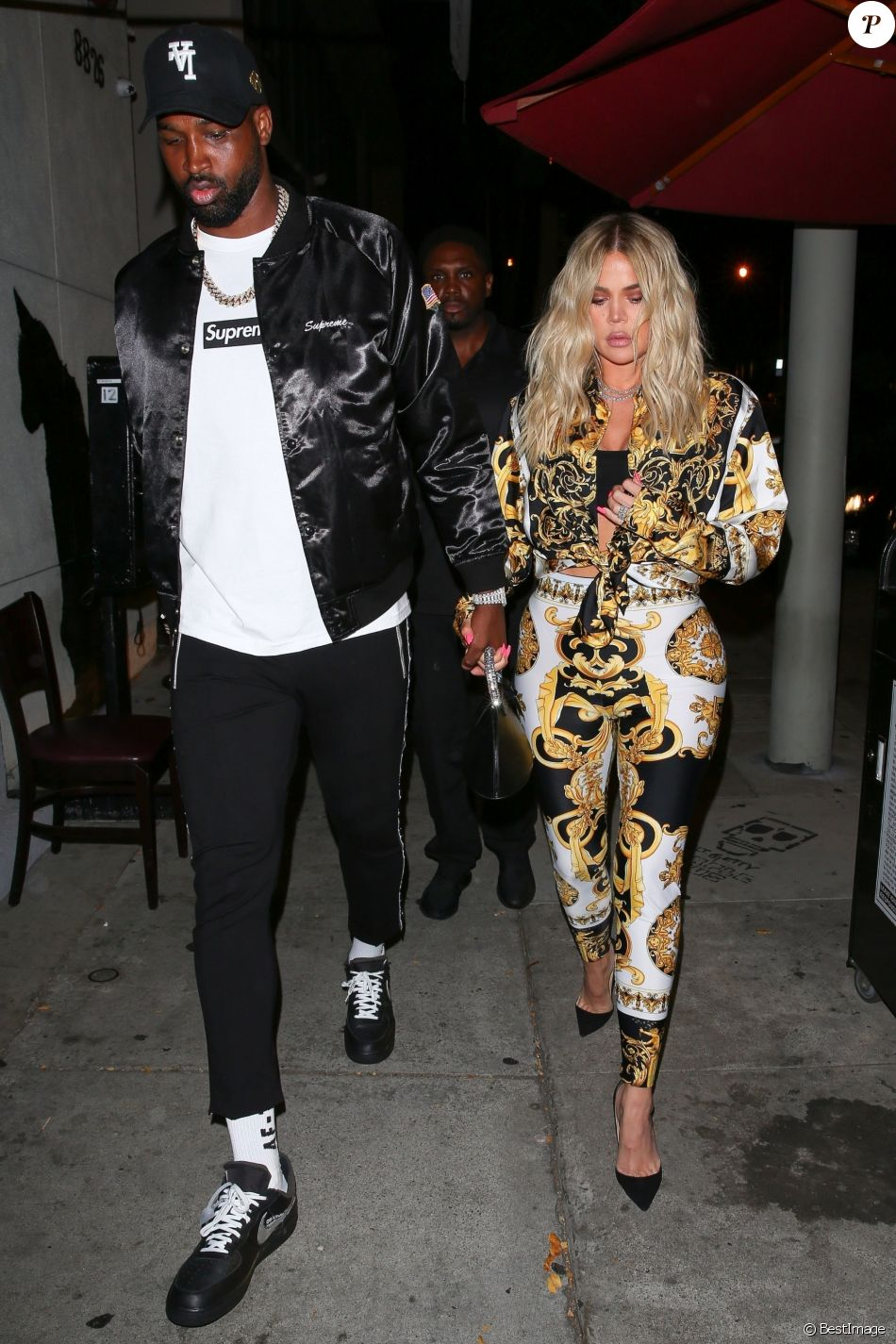 Khloe Kardashian et Tristan Thompson le 17 août 2018, à Los Angeles.
