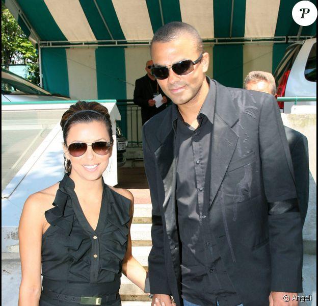 Eva Longoria et Tony Parker à Roland-Garros, le 5 juin 2009