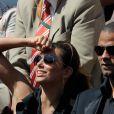 Eva Longoria et Tony Parker sont rentrés de Saint Tropez pour assister au match qui opposait Roger Federer à Juan Martin Del Potro à Roland-Garros, le 5 juin 2009