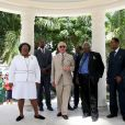 Le prince Charles, prince de Galles, visite la synagogue Nidhe Israel, à Bridgetown, la Barbade, le 19 mars 2019.