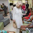 Camilla Parker Bowles, duchesse de Cornouailles, visite le centre du diabète Maria Holder, à Bridgetown, la Barbade, le 19 mars 2019.