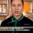 """Baptiste - """"Top Chef 2019"""" sur M6, le 27 mars 2019."""