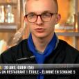 """Maël - """"Top Chef 2019"""" sur M6, le 27 mars 2019."""