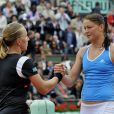 Roland-Garros, le 6 juin 2009. Finale femmes opposant les russes Svetlana Kuznetsova et Dinara Safina.