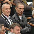 Jean-Claude Jitrois et un ami à Roland-Garros, le 6 juin 2009 pour la finale femmes opposant les russes Svetlana Kuznetsova et Dinara Safina.