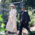 Courtney Love et Henri Levy (créateur de la marque Enfants Riches Déprimés) - Les célébrités ont assisté à la messe dominicale en musique de K. West à Los Angeles. Le 24 mars 2019.