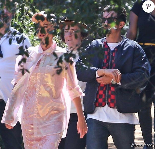 Katy Perry et Orlando Bloom - Les célébrités ont assisté à la messe dominicale en musique de Kanye West à Los Angeles. Le 24 mars 2019.