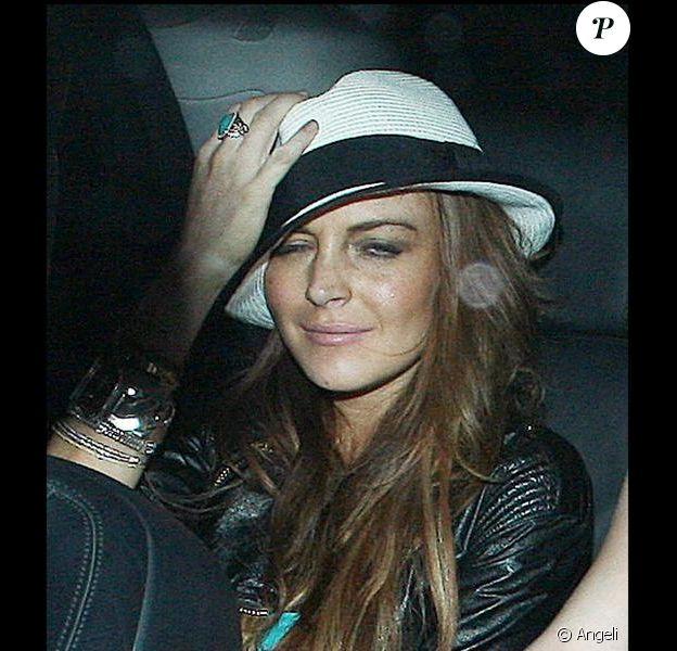 Lindsay Lohan à Londres, dans la nuit du 6 au 7 juin 2009